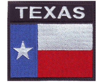 Texas Badge Flag Embroidered Patch