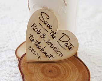 Heart Save the Date Magnet, Wedding Announcement, Wood Save the Date, Rustic Wedding Announcement, Heart Shaped Save The Dates