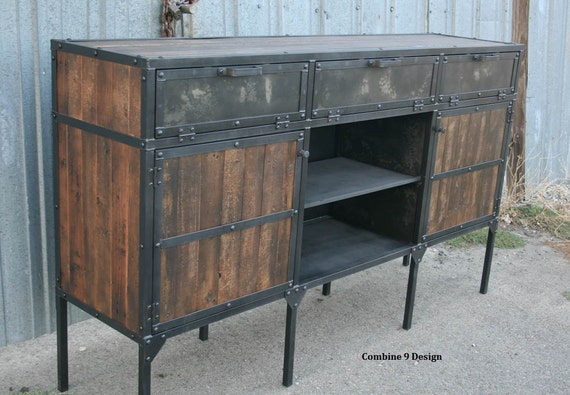 Sideboard Industrial rustic industrial buffet vintage industrial media console