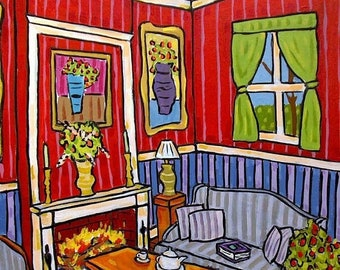 25% off The Fireplace Art Print Interior Design
