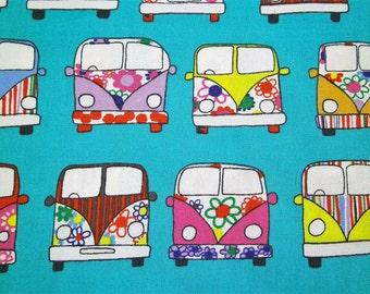 "0,5 m Printed fabric ""Flower Power Bus"" 114 cm w."