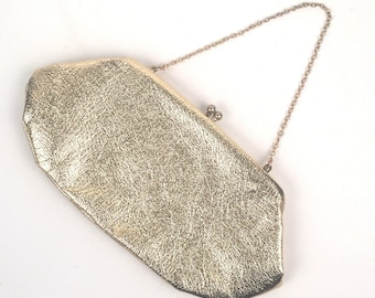 Vintage 1960s Metallic Gold Convertible Clutch