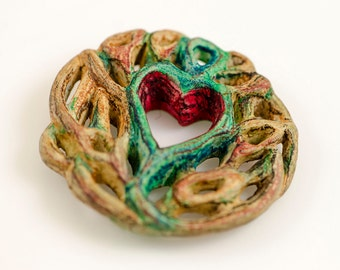 This is where love grows... Ceramic Artisan Focal