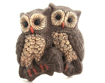 Retro BIG EYED OWL Pair Wall Plaques