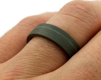 Titanium Ring, Sandblasted Ring, Steel Ring, Men's Ring, Women's Ring, Unisex Ring, Modern Design, Handmade Metalwork, Lathe Turned