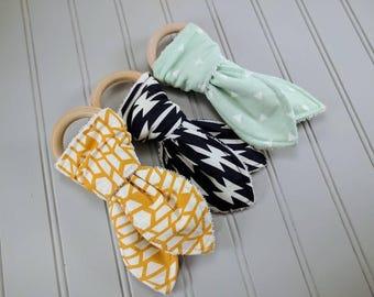 Wood Teething Ring   Teething Toy   Gender Neutral Baby   Baby Gifts