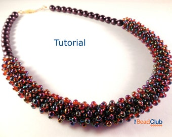 Peyote Stitch Patterns - Necklace Tutorial - Seed Bead Necklace - Beading Tutorials and Patterns - Beadweaving Tutorial - Helical Necklace