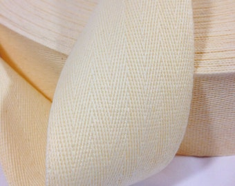 2 inch Cotton Twill Tape 10 yards long Natural cream
