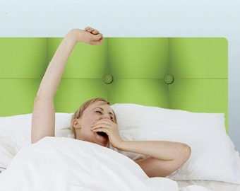 Wall Decal Lime Green Headboard (Repositionable)