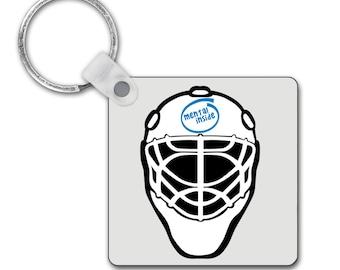 Funny Field Hockey Goalkeeper Keyring! Mental Inside! Hockey Goalkeeper! Field Hockey Gifts. Hockey Gifts/Hockey Humour/Hockey Slogan
