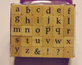 small alphabet stamp set, 9 mm (BB4/11)