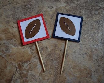 Superbowl, Superbowl Party, Superbowl Cupcake Topper, Football Party, NFL Party, Football Cupcake Topper, NFL Cupcake Topper, Football Decor