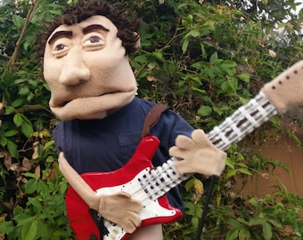 Custom look-a-like people puppet with half body arms and arm rods