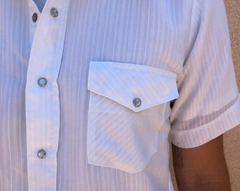 Vintage Pearl snap short sleeve button up shirt