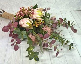 Bohemian Artificial Flower Wedding Bouquet using premium flowers.
