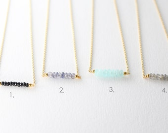 Gemstone necklace - layering necklace