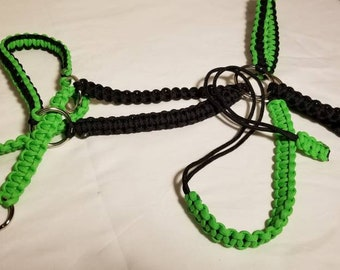 Green Black Paracord bridle