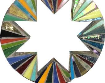 Circle Star Mosaic Garden Stake
