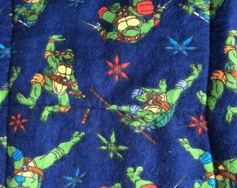REDUCED PRICE Orig. 60 Now 40, TMNT, Ninja Turtle Quilt,Cowabunga Dude, Michelangelo quilt, Raphael quilt, Donatello quilt, Leonardo quilt