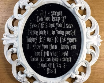 Pretty Little Liars inspired large embroidery frame