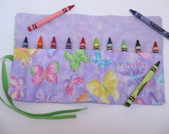 butterfly crayon roll party favors crayon holder crayon wallet