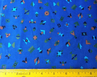 Vintage Fabric Northern Lights Southwest Indian Motif Ethnic Toss Joan Messmore Cranston VIP  Decor or Quilting, sewing, Cranston VIP Yard