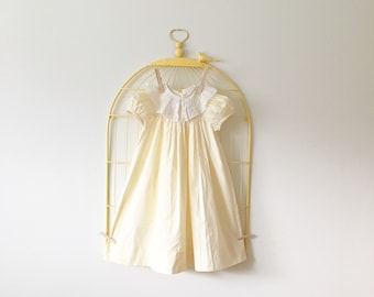 Vintage Pastel Yellow Collared Dress (Girls Size 4T/5T)