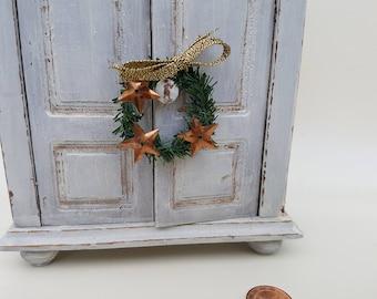 Miniature Christmas Wreath 1:12