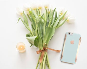 iPhone 8 Case iPhone 8 Plus Case iPhone X Island Water and Rose Gold Hard Case Otterbox Symmetry