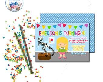 Museum Party Invitation, Museum Birthday Party Invite