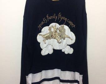 Rare!! castelbajac sport's family flying carpet sweatshirt