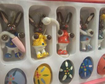 chocolate brown bunny and egg set