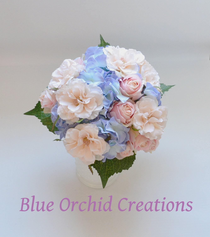 Hydrangea bouquet blue hydrangeas country wedding bouquet zoom izmirmasajfo Images