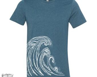 Mens WAVE T Shirt s m l xl xxl (+ Color Options) custom