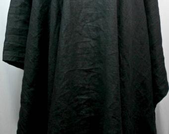 Plus size caftan/kaftan, linen, black, size size 1X-2X or  3X-4X