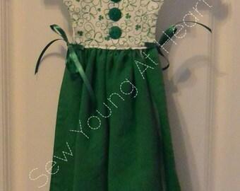 Shamrock Kitchen Towel Dress, St. Patrick's Day