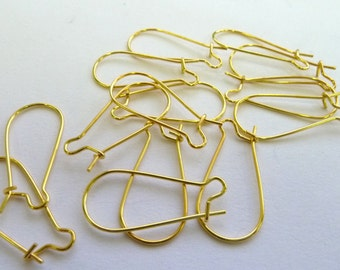 Gold plated large earring wires