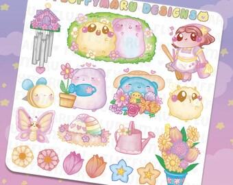 Springtime with Sprinkles Deco Sticker Set    Planner Stickers, Cute Stickers for Erin Condren (ECLP), Filofax, Kikki K, Etc.    DS31