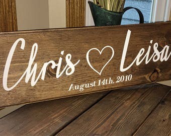 Rustic Dated Wedding Sign | Rustic | Wedding Gift | Anniversary Gifts | Gift for Bride | Gift for Her | Personalized Gift | Personalized