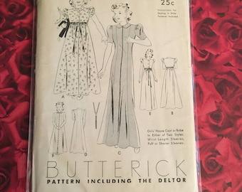 1930's Vintage Butterick Deltor Pattern