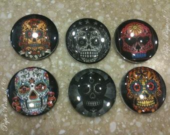 Handmade Sugar Skull Magnet Set