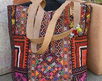 Bohemian Indian Embroidered Bag Boho Ethnic Hippie Carry Bag Shoulder Bag