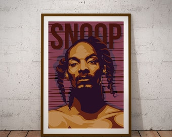 Snoop Dogg illustration Poster