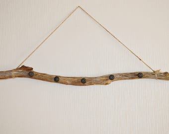 Bohemian Branch Clothes Hanger, Wooden Hanger for Towels or Scarves , Wooden Jewelry Holder, Eco Decor, Bedroom Decor, Kitchen Decor