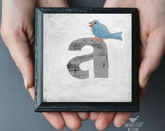 Bird Nursery, Alphabet Letters, Alphabet Art, ABC Nursery, Nursery Art, Cute Birds, Kids Art, Monogram Art, Monogram Letters, Initials
