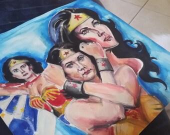 Wonderwoman watercolour