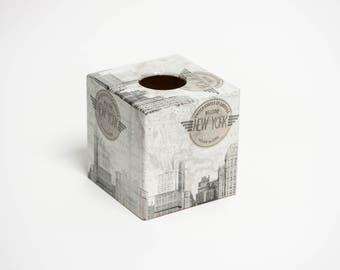 New York Tissue Box Cover wooden perfect Gift
