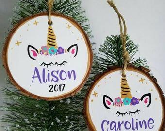 Unicorn Ornament, Unicorn Christmas Ornament, 1st Christmas Ornament, First Ornament, New Baby Ornament, Personalized Christmas Ornament