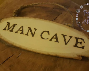 Rustic Man Cave Yuma : Man cave sign gifts for husband decor