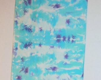 8mm Silk Habotai Scarf, Hand dyed Silk Scarf, OOAK